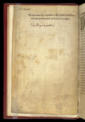 Note Of Contents And Ownership Inscription, In St. Augustine's 'Enchiridon' (Handbook)